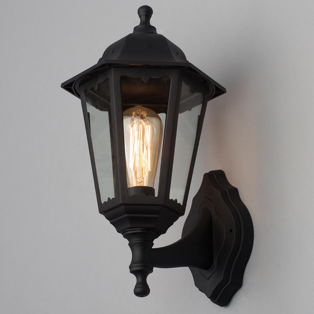 Wall Lights Litecraft : Outdoor IP44 Wall Light Ovoid Style Lamp Garden Walkway Lighting Black Litecraft