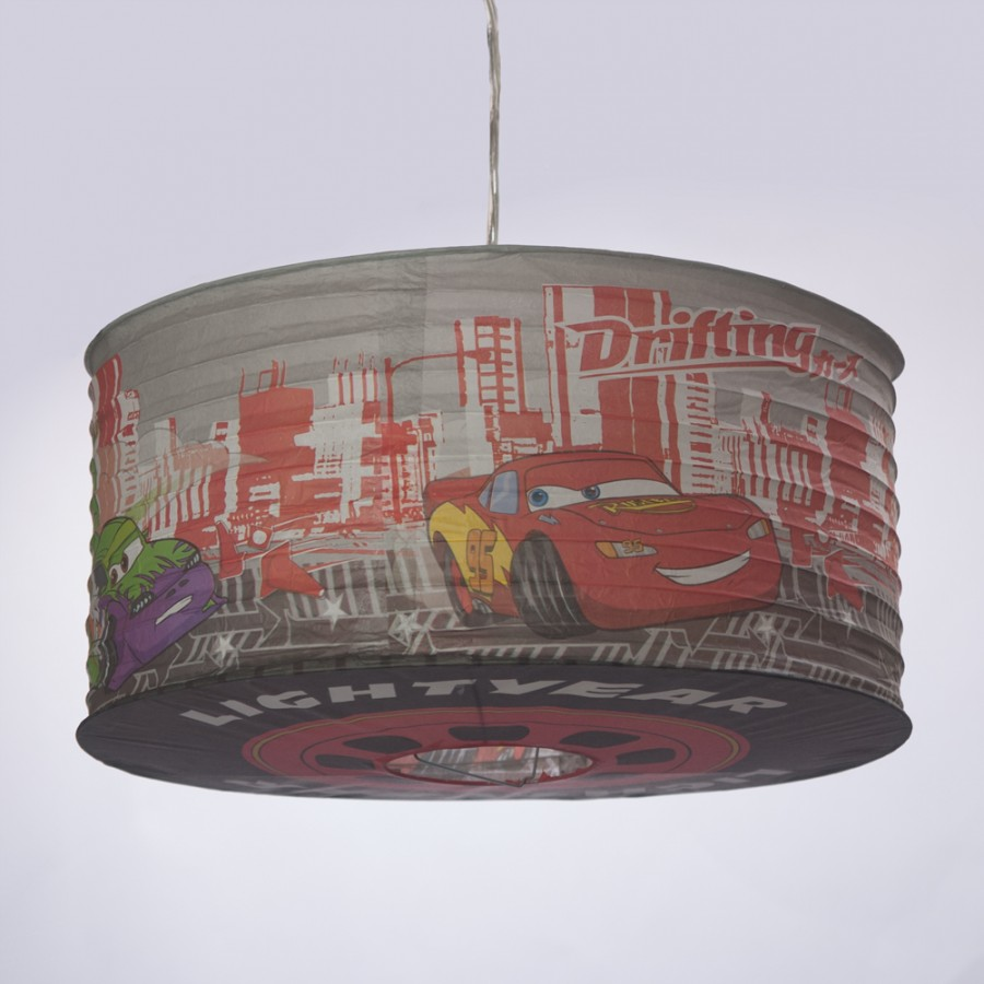Childrens Wall Lamp Shades : Disney Cars Paper Lamp Shade Kids Ceiling Light Childrens Bedroom New Litecraft eBay