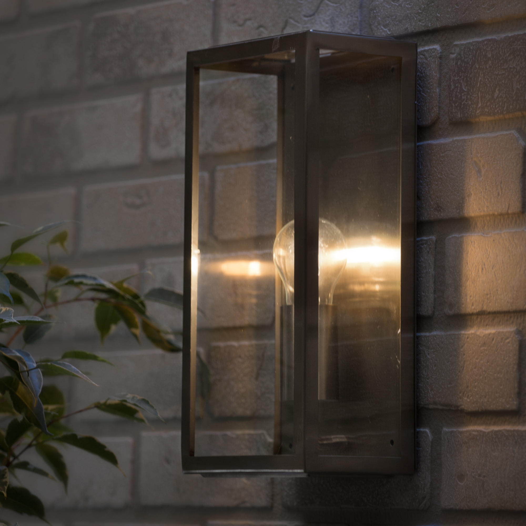 Clearance Exterior Wall Lights : 1 Lt Outdoor Box Wall Lantern Modern Garden Walkway Lighting CLEARANCE Litecraft