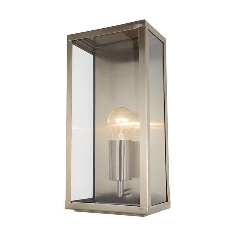Outdoor Lamp Clearance: 1 Lt Outdoor Box Wall Lantern Modern Garden Walkway