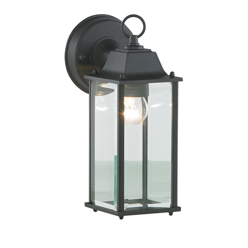 Outdoor Lamp Clearance: 1 Lt Bevelled Traditional Outdoor Wall Lantern Garden