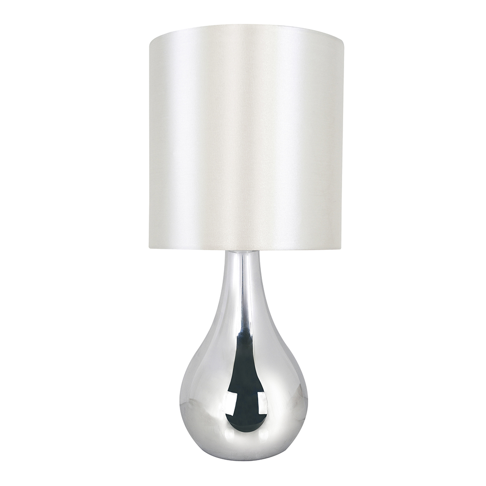 Modern Teardrop Touch Bedside Table Lamps Lights Home Lamp Chrome ...