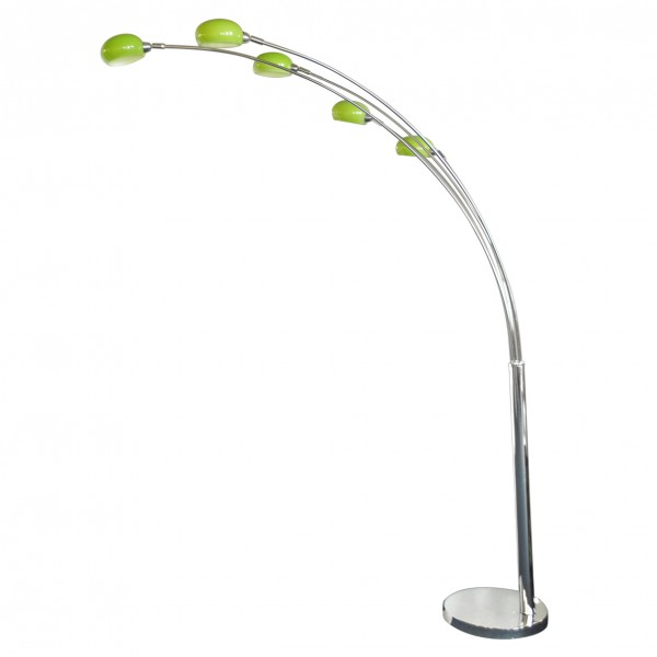 Litecraft Lime Green Glass Lampshade For Arc Nero Floor