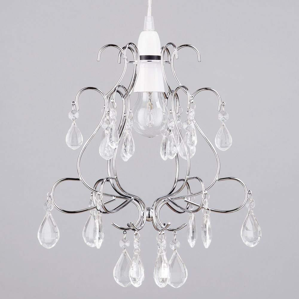 easy fit ceiling crystal droplet effect pendant light