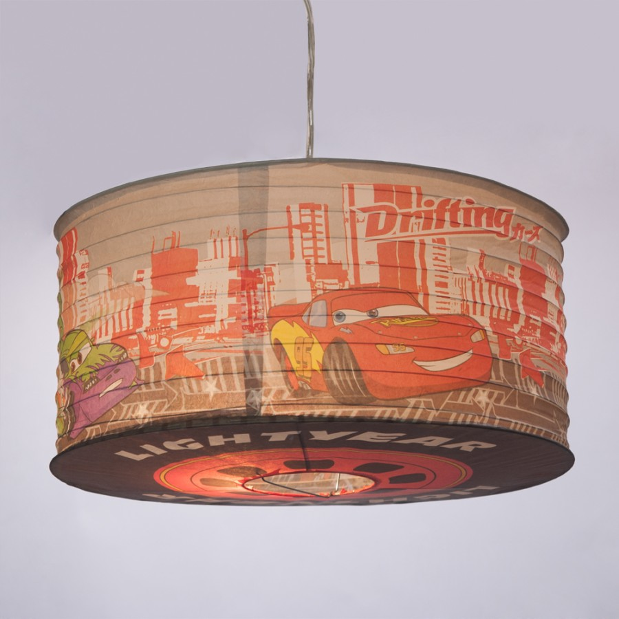 Childrens Light Shades Ceiling: Disney Cars Paper Lamp Shade Kids Ceiling Light Childrens