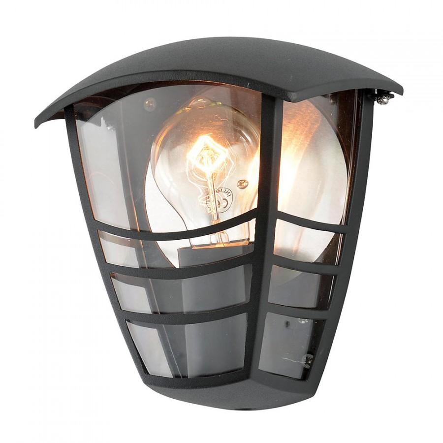Modern Outdoor Die Cast Half Wall Lantern Light Black Ex Store Display Litecraft