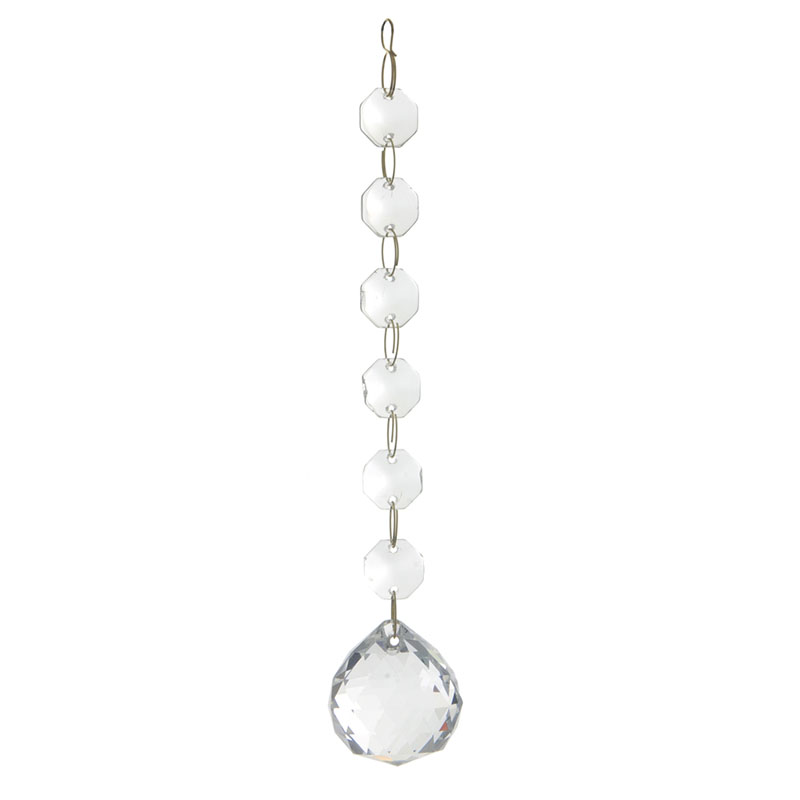 Clear 6 cm Crystal Effect Droplet 1 Small 1 Large Bead Replacement Litecraft