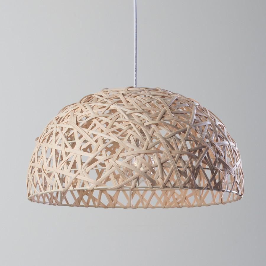 Wicker 1 Light Ceiling Pendant Light Shade Modern Home