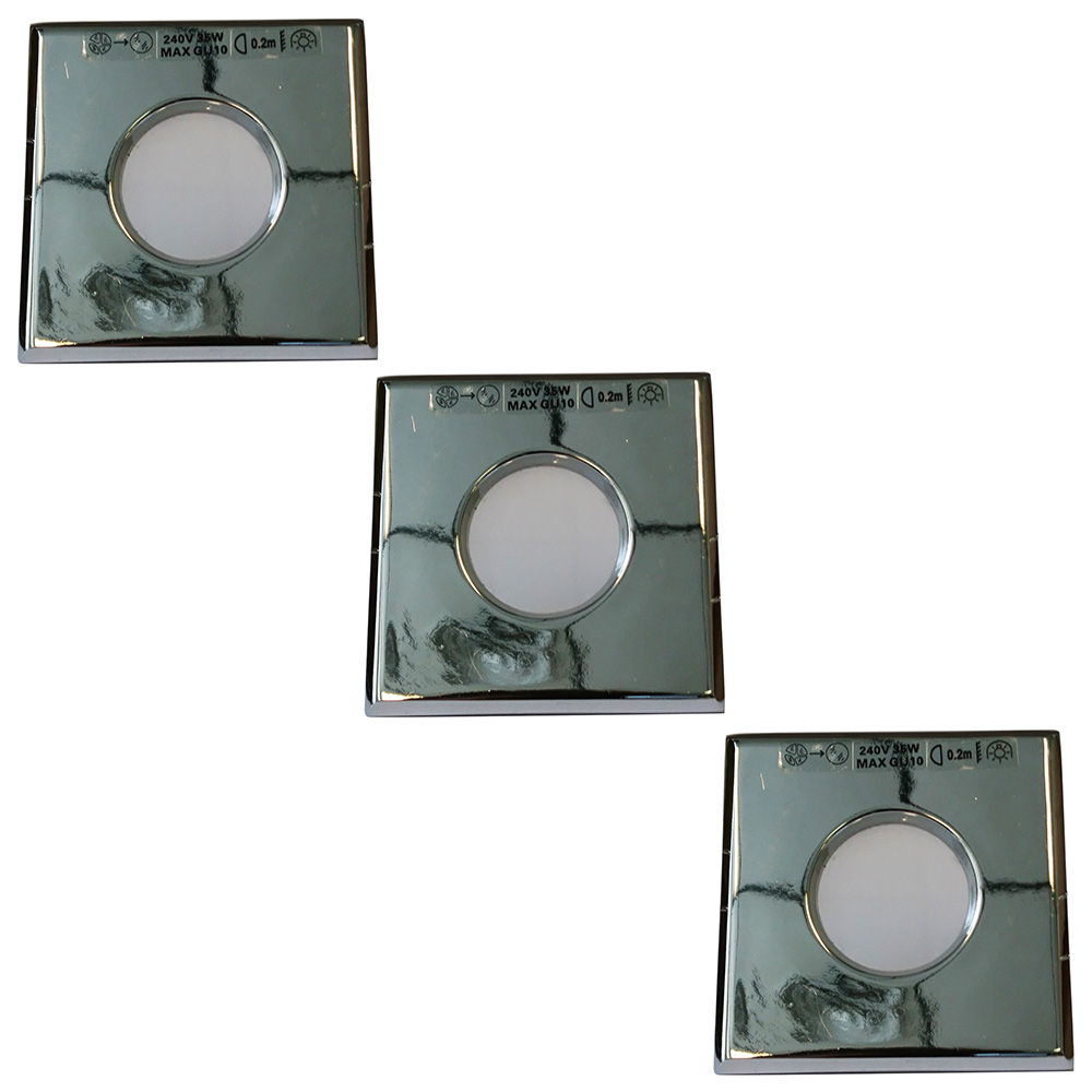 3 Pack of Circular Recessed Chrome Downlights Clearance Litecraft