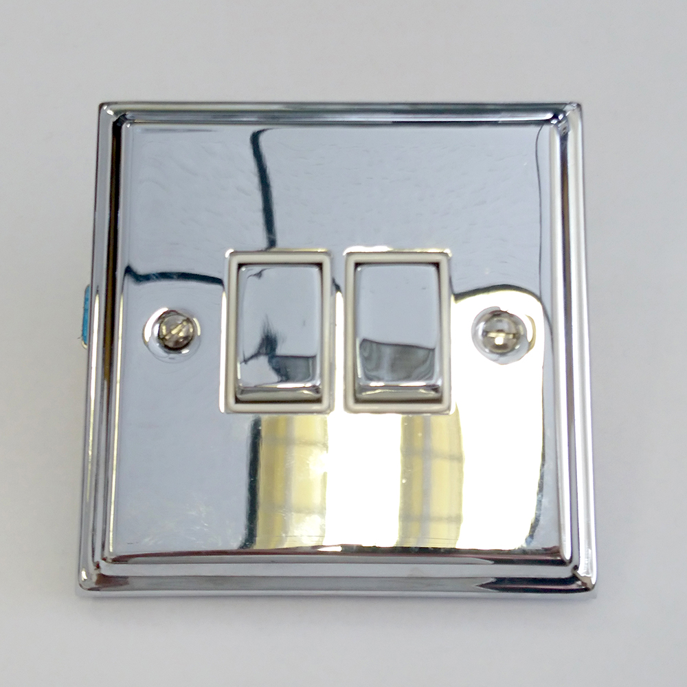 square 2 gang 10 amp rocker light switch polished chrome clearancedetails about square 2 gang 10 amp rocker light switch polished chrome clearance litecraft