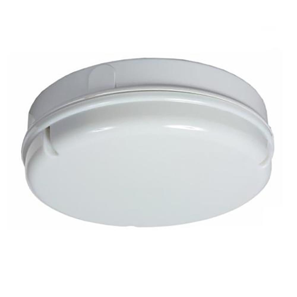 Small 1 Light Circular Bulkhead Modern Light Fixture White