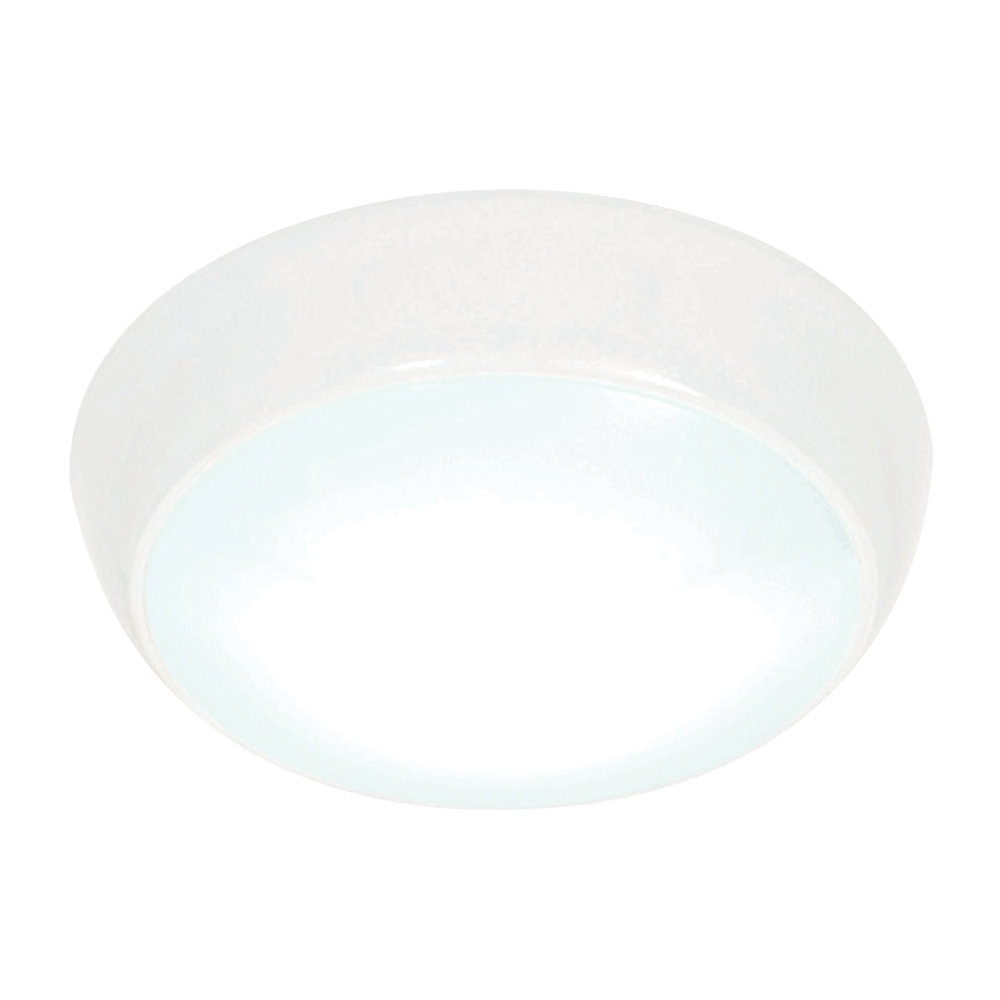 White 1 light circular flush mounted modern ceiling lighting clearance litecraft