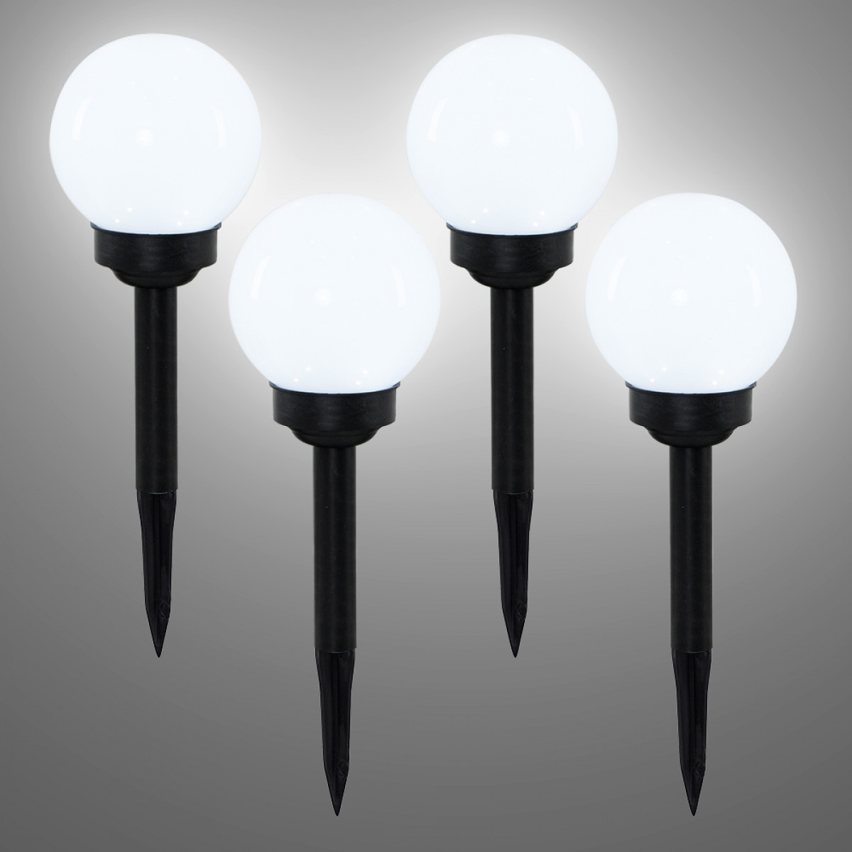 Outdoor Lighting Clearance: Pack Of 4 Globe Solar LED Outdoor Spike Post Garden Lights