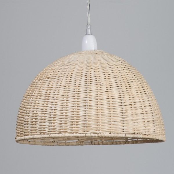 Natural woven wooden easy fit pendant light rattan dome lamp shade natural woven wooden easy fit pendant light rattan dome lamp shade litecraft aloadofball Gallery