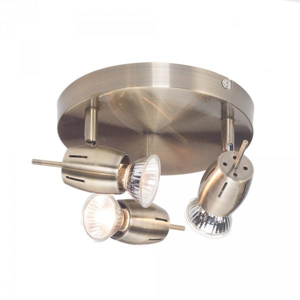 Large Modern Silver Chrome 6 Way Kitchen Ceiling Spot: Adjustable 3 Way Spotlight Ceiling Plate Kitchen Light